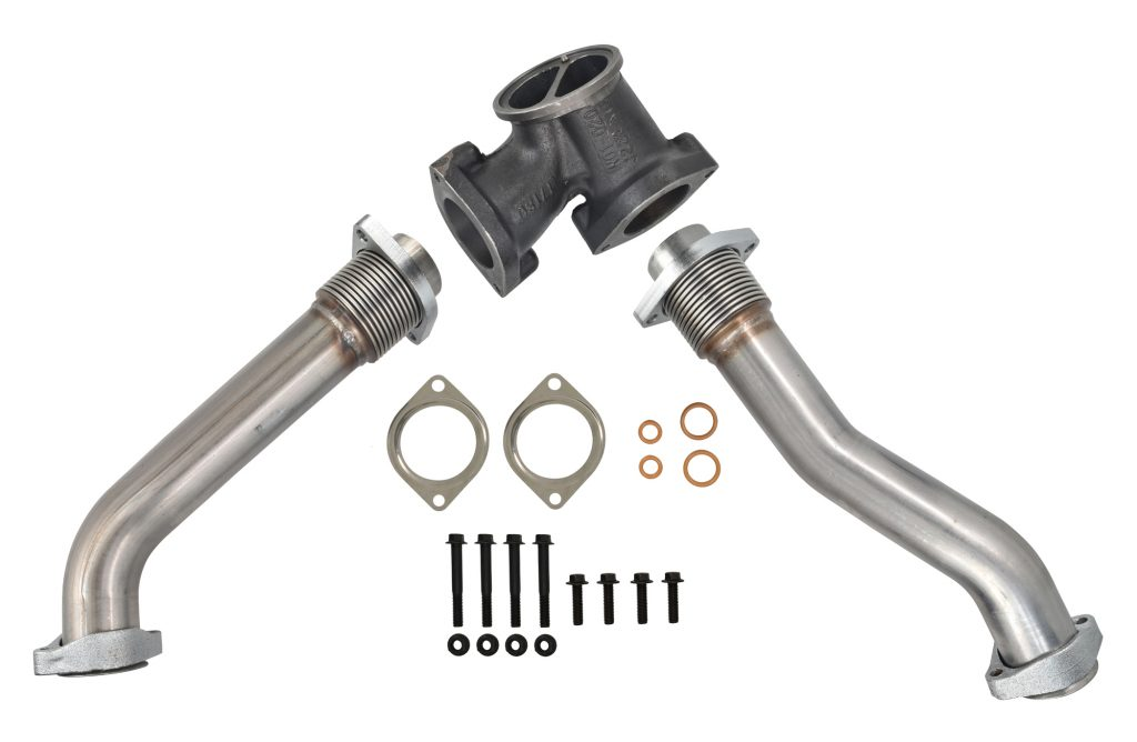SPOOLOGIC 409 Stainless Steel Bellowed Up-pipes and gaskets 99.5-03 7.3L Powerstroke