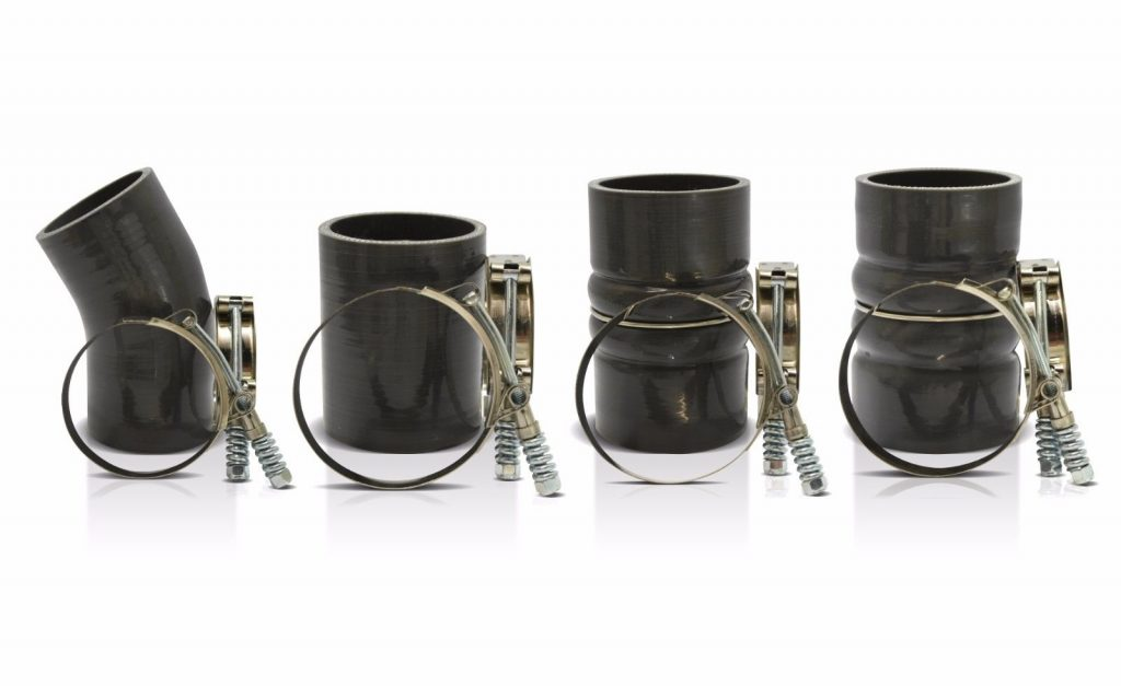 SPOOLOGIC 5 Ply Silicone CAC Intercooler Boot Kit for 03-07 6.0L Powerstroke