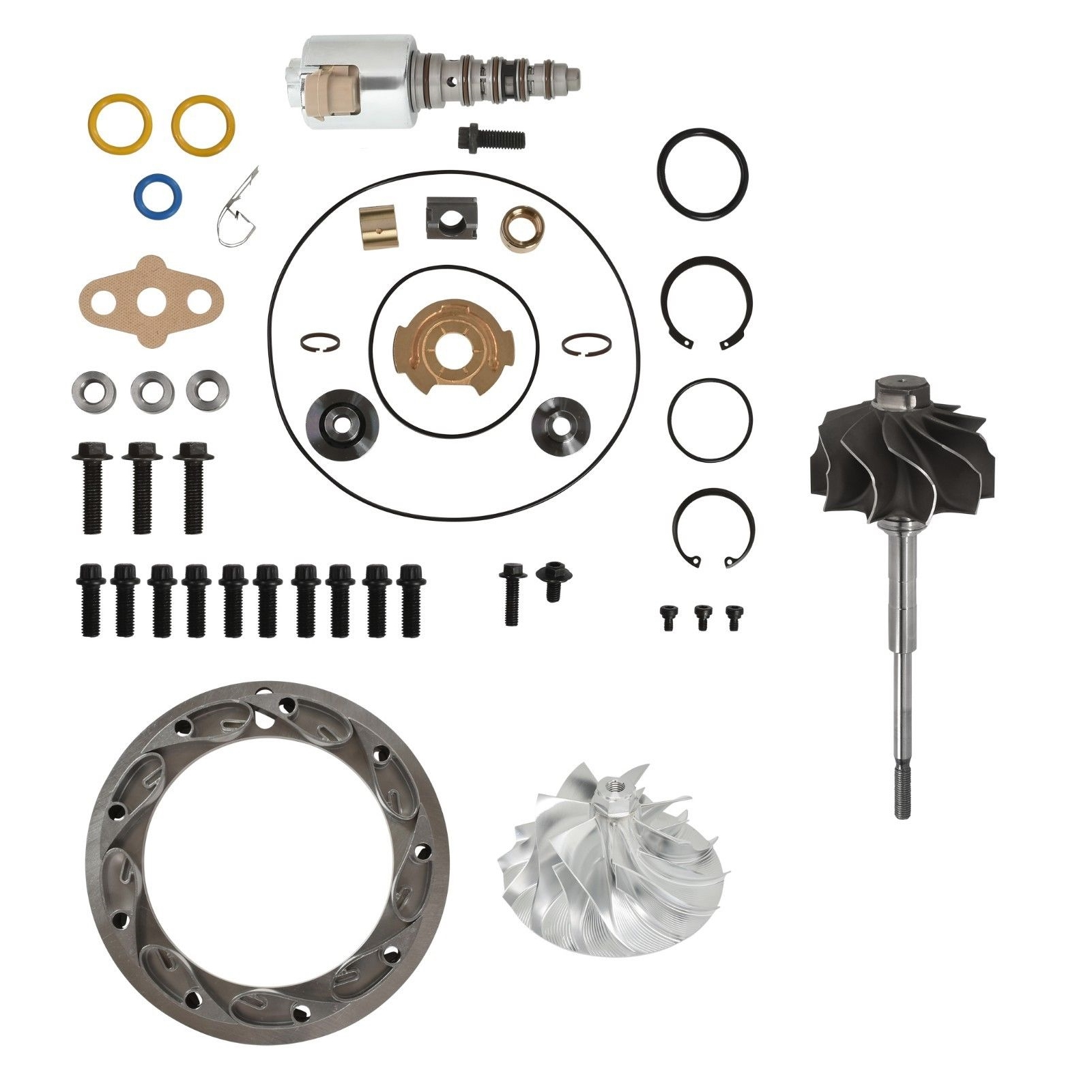 GT3782VA Master Turbo Rebuild Kit Billet Compressor Wheel For 05.5-10 6.0L Ford Powerstroke Diesel