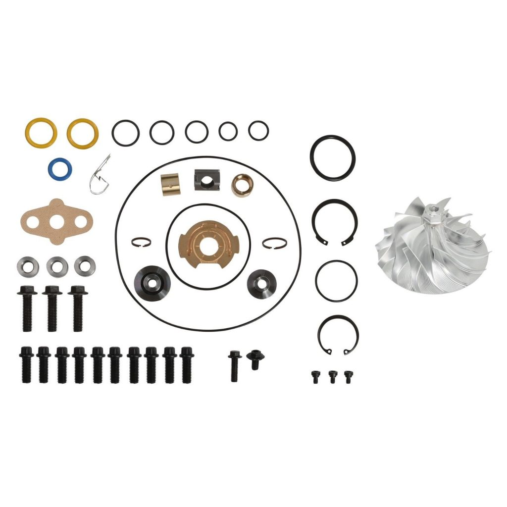 SPOOLOGIC GT3782VA Turbo Rebuild Kit Billet Compressor Wheel for 05.5-10 6.0L Powerstroke