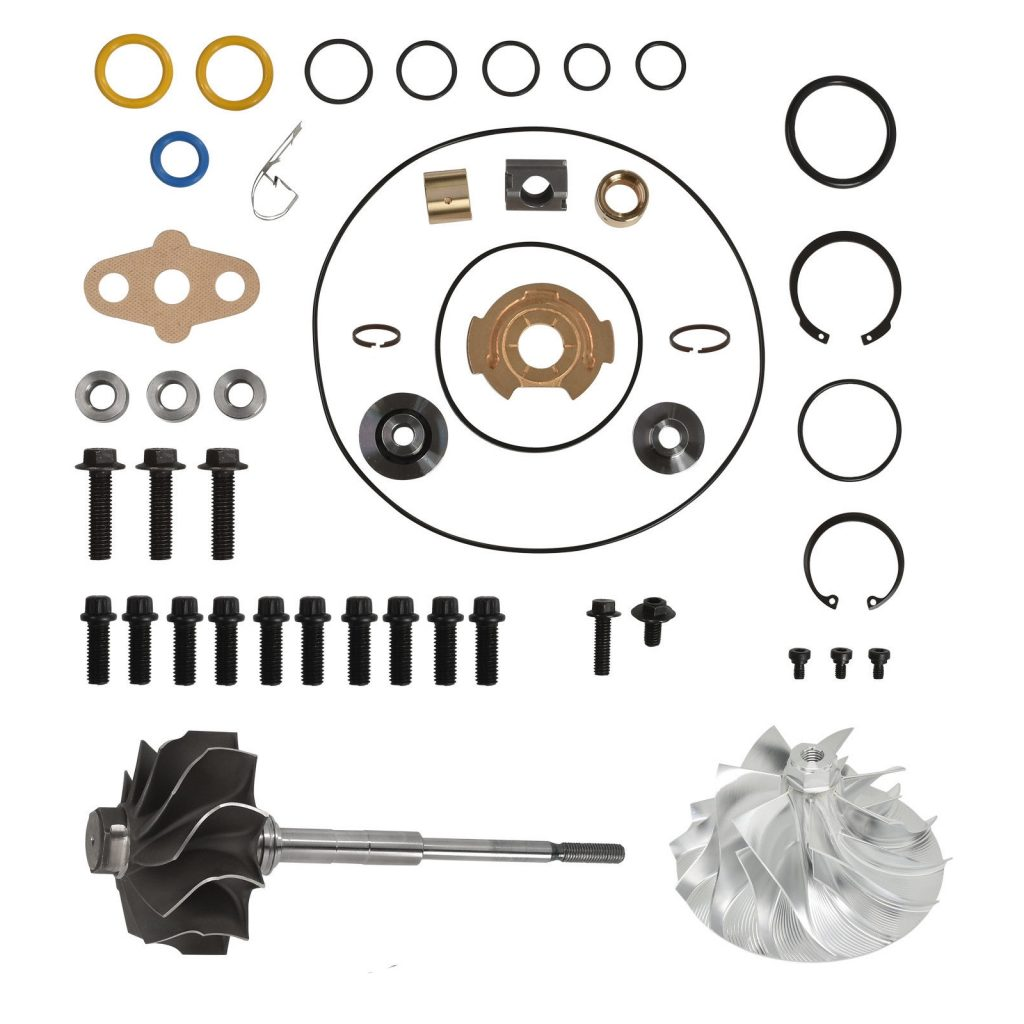 SPOOLOGIC GT3782VA Turbo Rebuild Kit Billet Wheel Shaft for 03-Early 04 6.0L Powerstroke