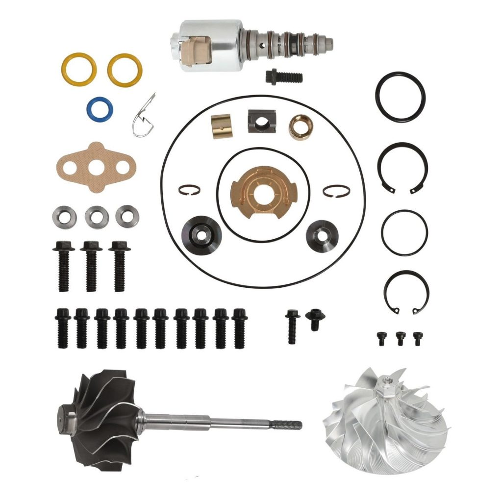 SPOOLOGIC GT3782VA Turbo Rebuild Kit Billet Wheel VGT Shaft for 03-Early 04 6.0L Powerstroke