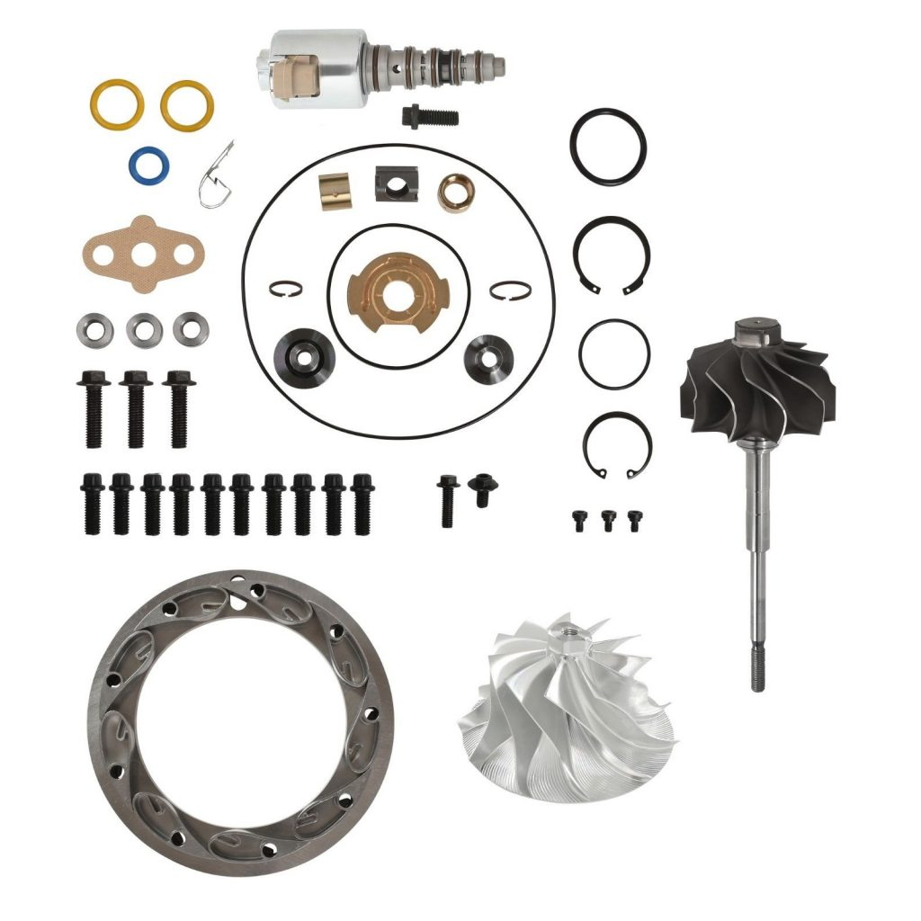 SPOOLOGIC PowerMax GT3788VA Master Turbo Rebuild Kit 11 Billet Wheel for 03-07 6.0L Powerstroke