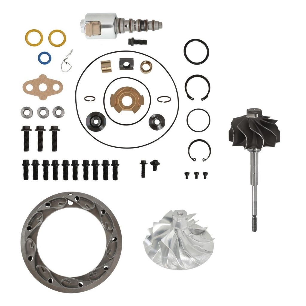 SPOOLOGIC PowerMax GT3788VA Master Turbo Rebuild Kit 6+6 Billet Wheel for 03-07 6.0L Powerstroke