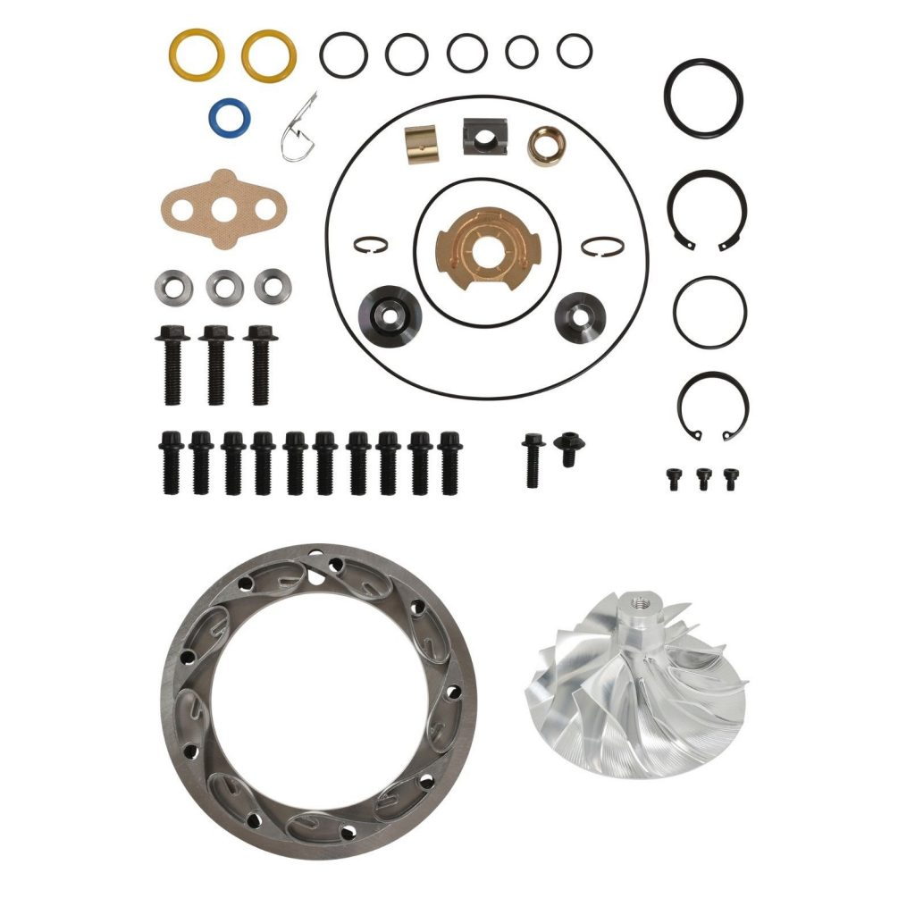 SPOOLOGIC PowerMax GT3788VA Turbo Rebuild Kit 11 Billet Vanes for 03-07 6.0L Powerstroke