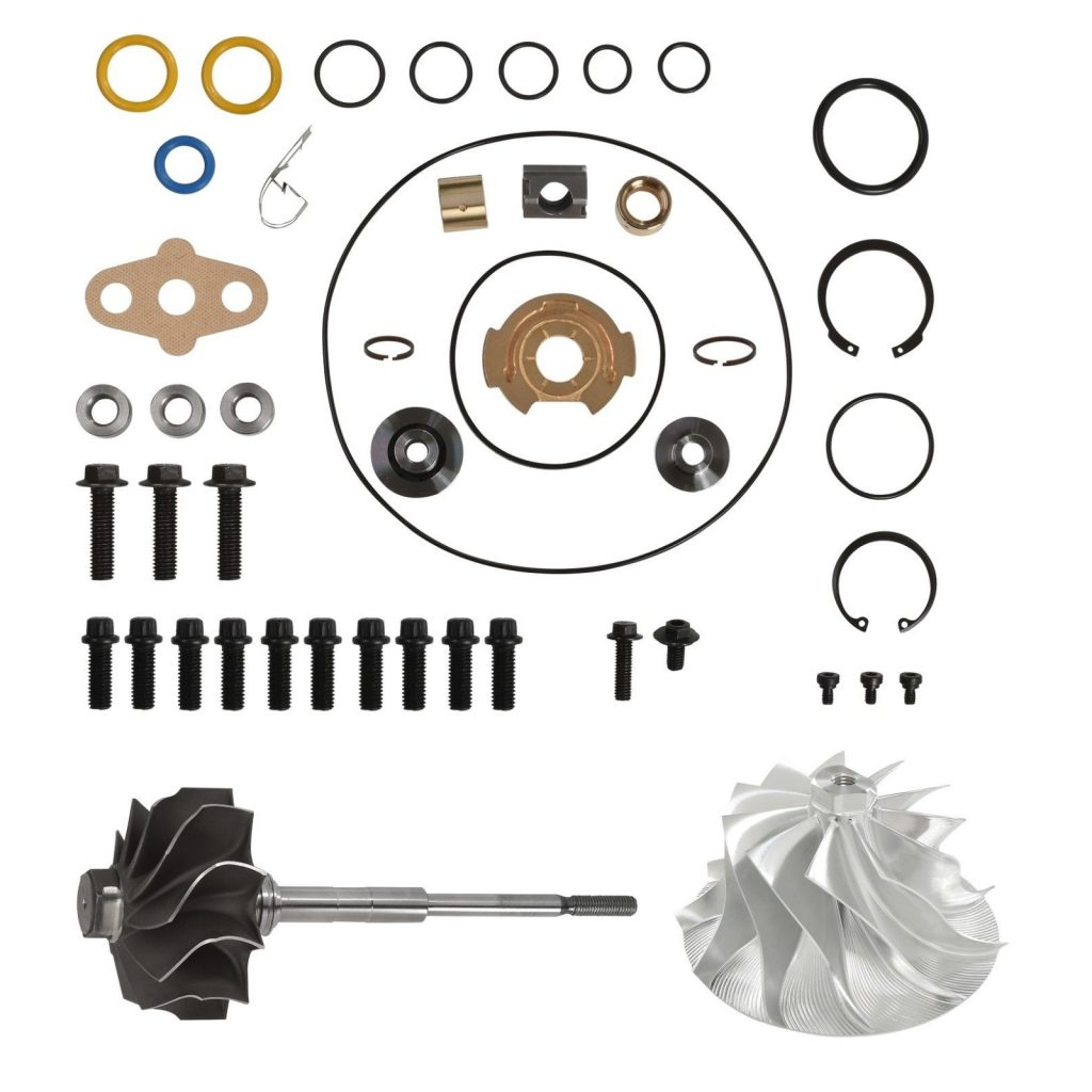 SPOOLOGIC PowerMax GT3788VA Turbo Rebuild Kit 11 Billet Wheel Shaft for 03-07 6.0L Powerstroke
