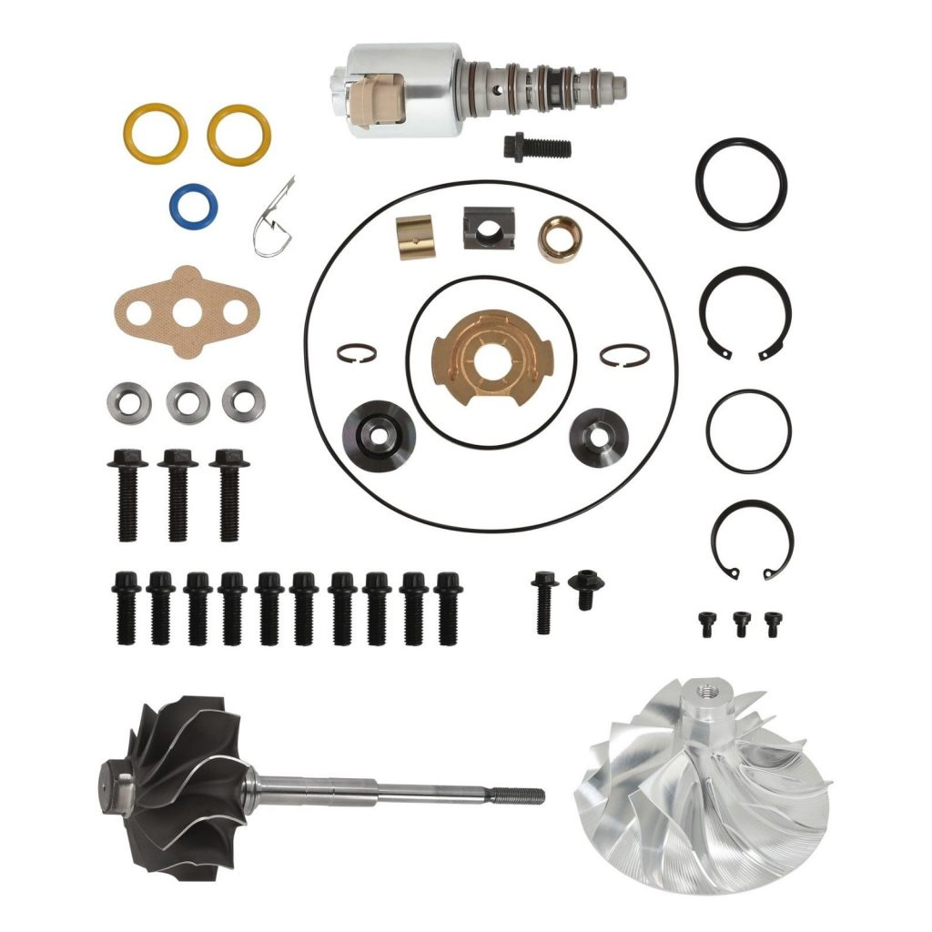 SPOOLOGIC PowerMax GT3788VA Turbo Rebuild Kit 11 Billet Wheel Shaft VGT for 03-07 6.0L Powerstroke