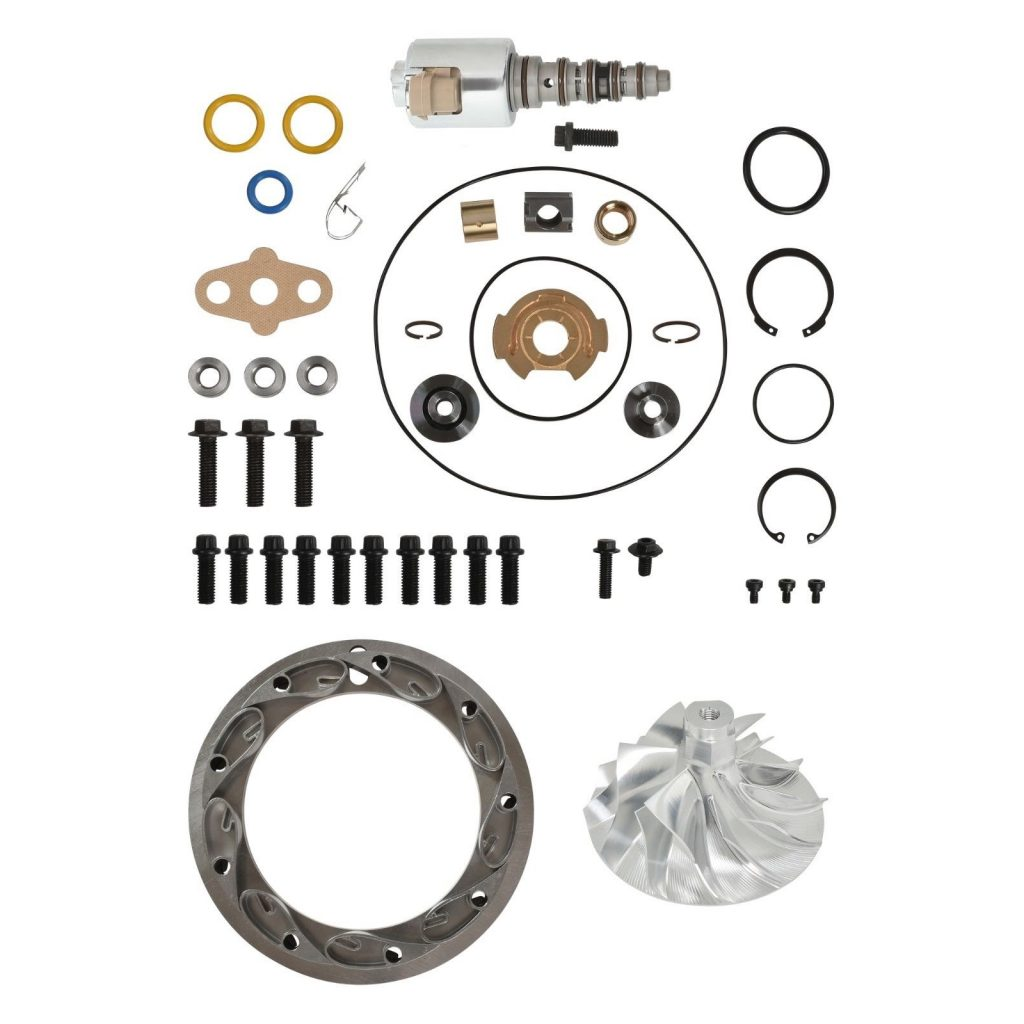 SPOOLOGIC PowerMax GT3788VA Turbo Rebuild Kit 6+6 Billet VGT Vanes for 03-07 6.0L Powerstroke