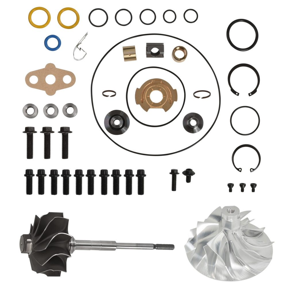 SPOOLOGIC PowerMax GT3788VA Turbo Rebuild Kit 6+6 Billet Wheel Shaft for 03-07 6.0L Powerstroke
