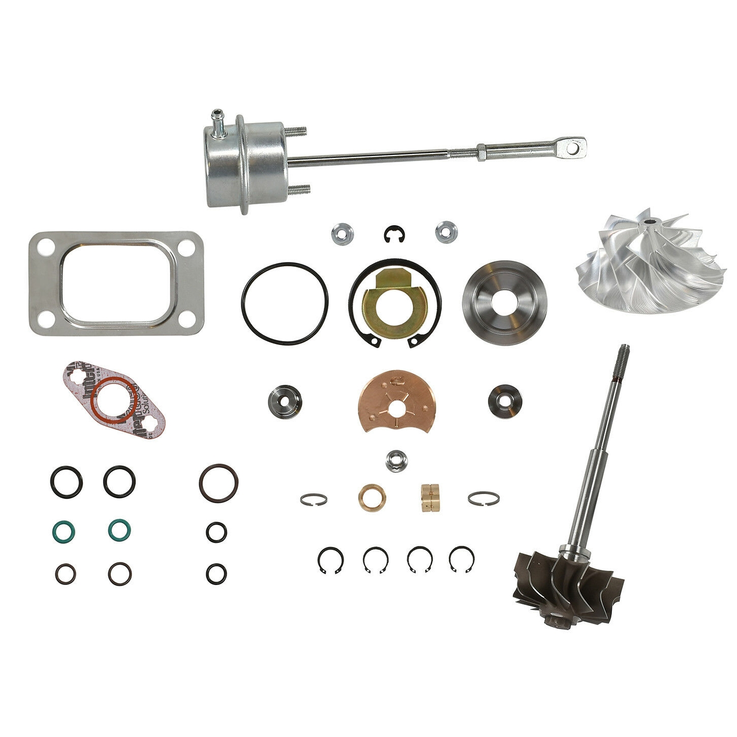 HE351CW Turbo Rebuild Kit Billet Wheel Wastegate Actuator Turbine Shaft For 04.5-07 5.9L ISB Dodge Ram Cummins Diesel