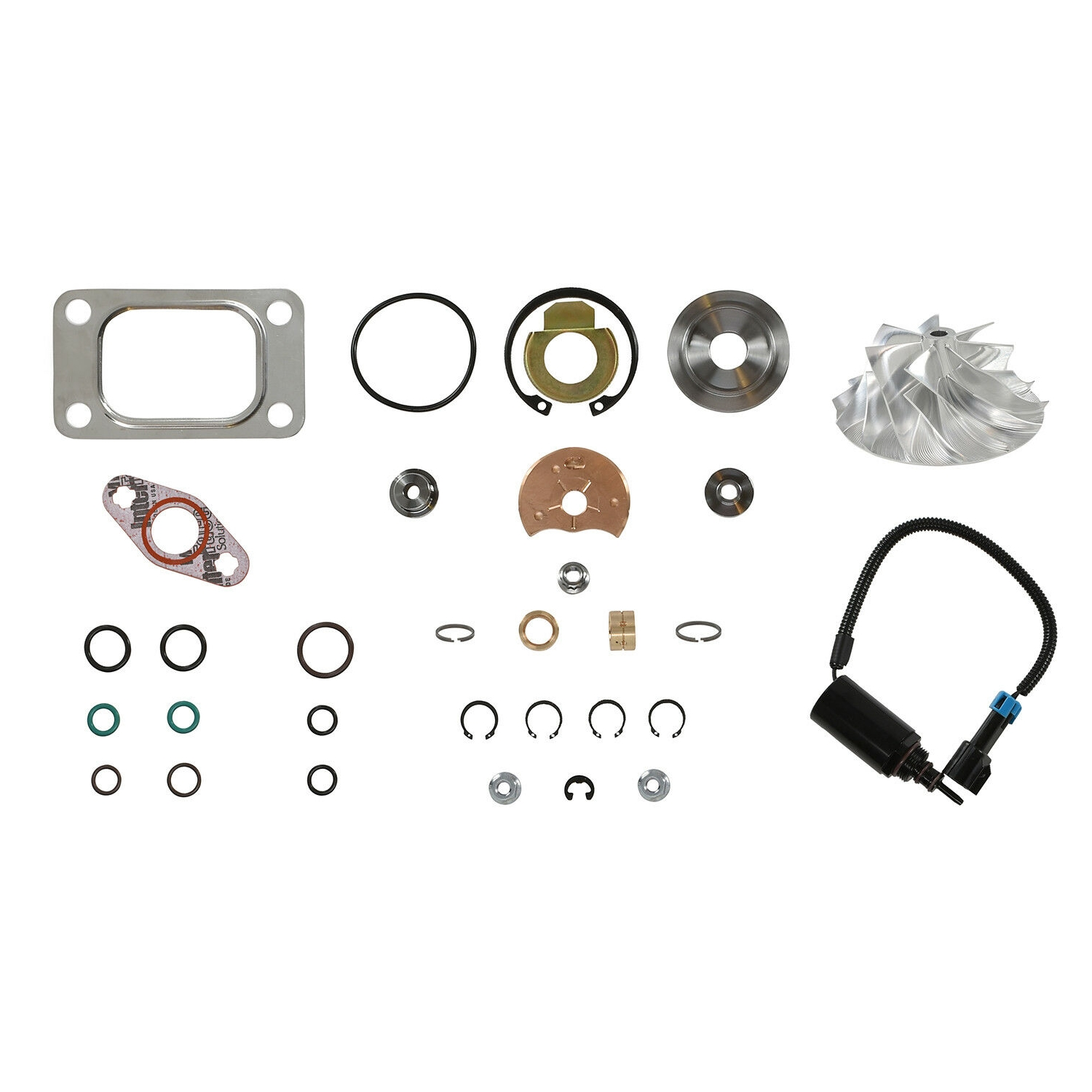 HE351CW Turbo Rebuild Kit Billet Wheel Wastegate Solenoid For 04.5-07 5.9L ISB Dodge Ram Cummins Diesel