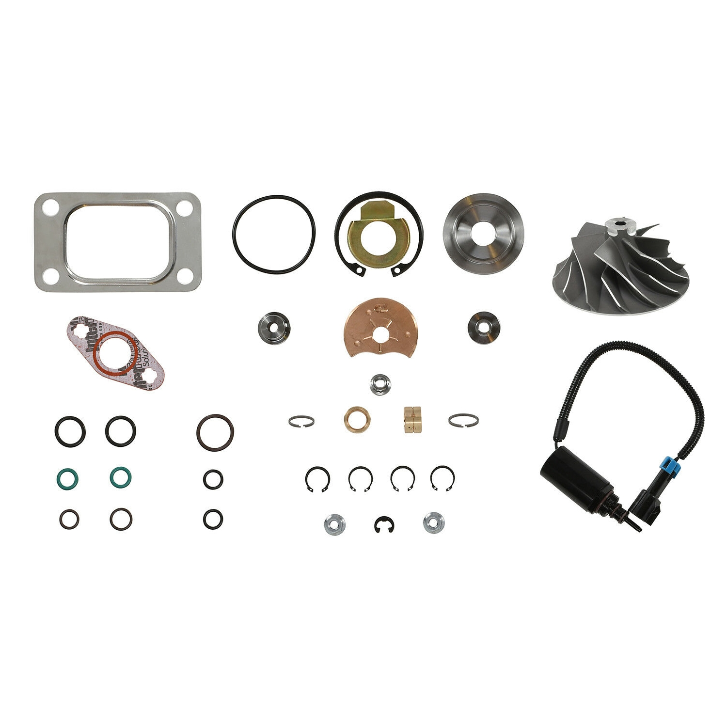 HE351CW Turbo Rebuild Kit Cast Wheel Wastegate Solenoid For 04.5-07 5.9L ISB Dodge Ram Cummins Diesel