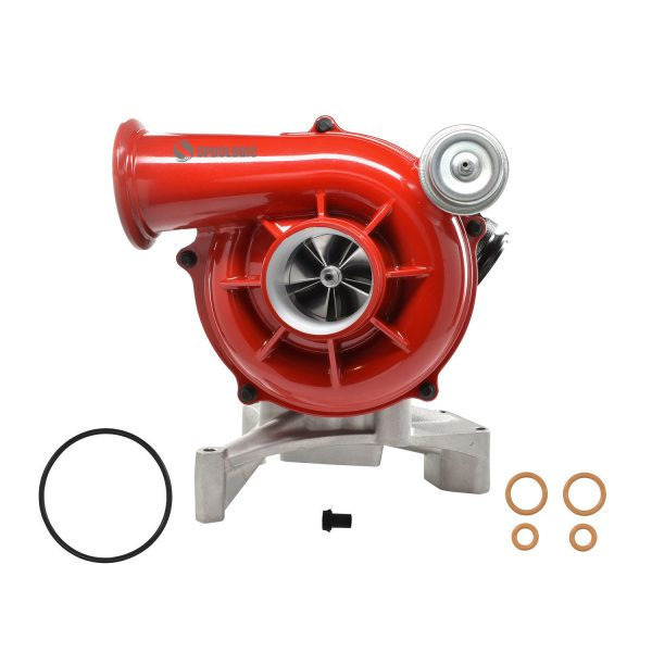 SPOOLOGIC GTP38 Turbocharger 5+5 Billet Wheel F-Series Red for 99.5-03 7.3L Powerstroke