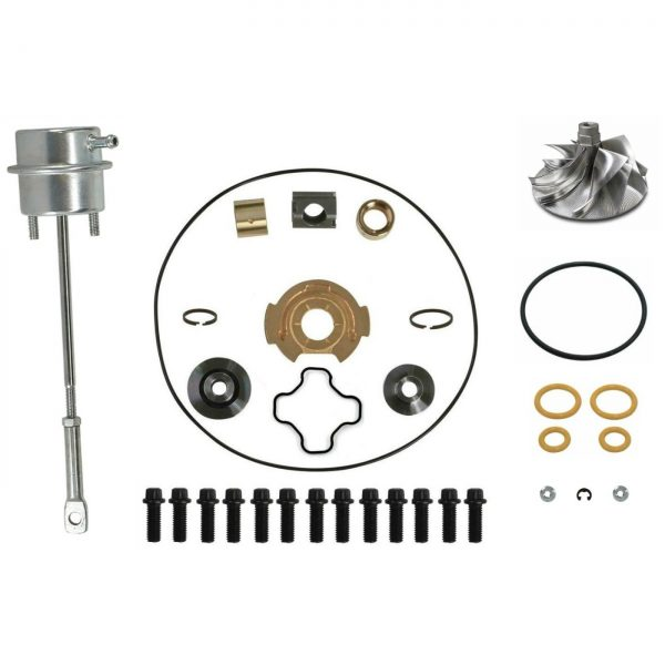 SPOOLOGIC GTP38 Turbo Rebuild Kit Billet Wheel Wastegate for 99.5-03 7.3L Powerstroke
