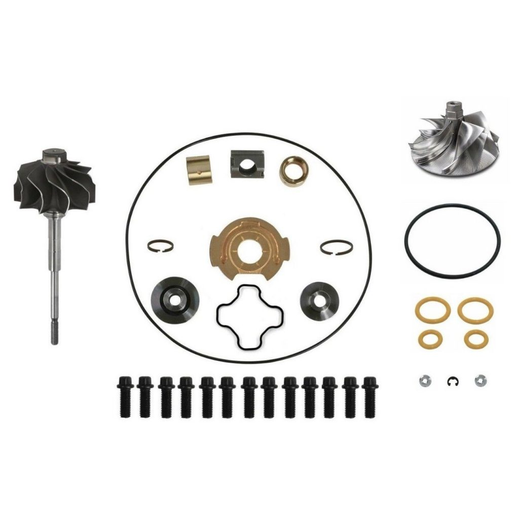 SPOOLOGIC GTP38 Turbo Rebuild Kit Billet Wheel Shaft for 99.5-03 7.3L Powerstroke
