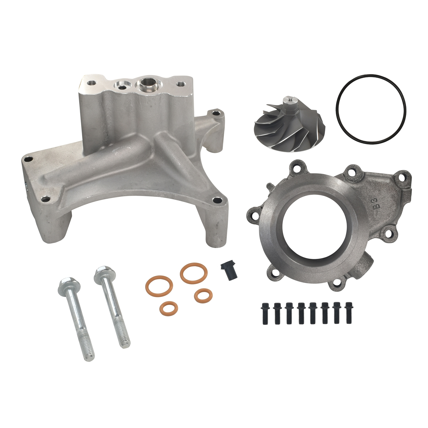 GTP38 Turbocharger Pedestal EBP Delete Kit 5+5 Cast Compressor Wheel For 99.5-03 7.3L Ford Powerstroke Diesel