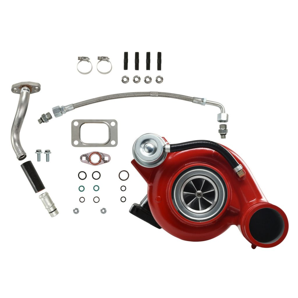 SPOOLOGIC HY35W Turbocharger Billet Wheel Red for 03-Early 04 5.9L Cummins 24V