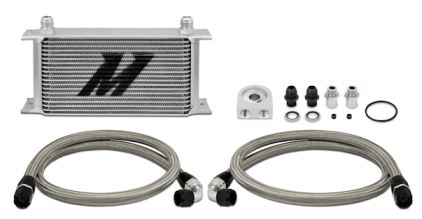 Mishimoto Universal 19-Row Oil Cooler Kit Silver