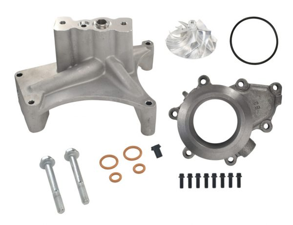SPOOLOGIC GTP38 Turbo Pedestal EBP Delete Kit Billet Wheel for Early 99 7.3L Powerstroke