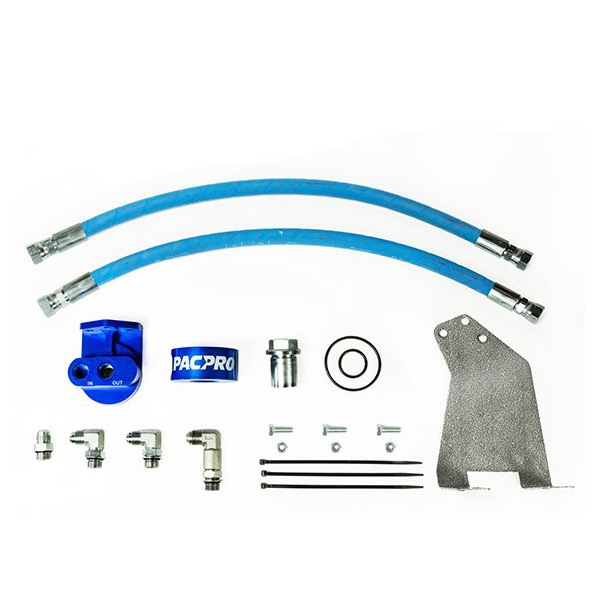 Pacbrake Remote Oil Filter Relocation Kit for 10-18 6.7L Cummins ISB 24V
