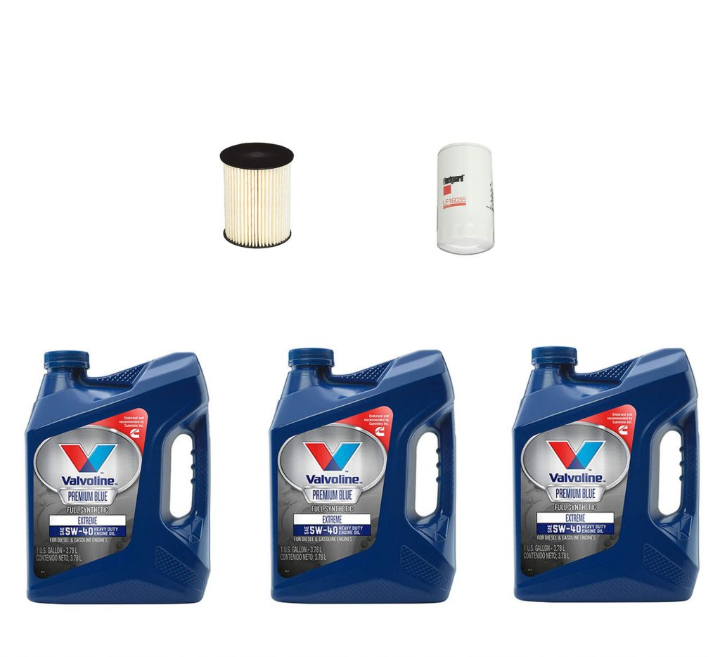 Dodge Ram Cummins Premium Full Synthetic Oil Change Kit w/ Fuel Filter for 00-02 5.9L Cummins 24V