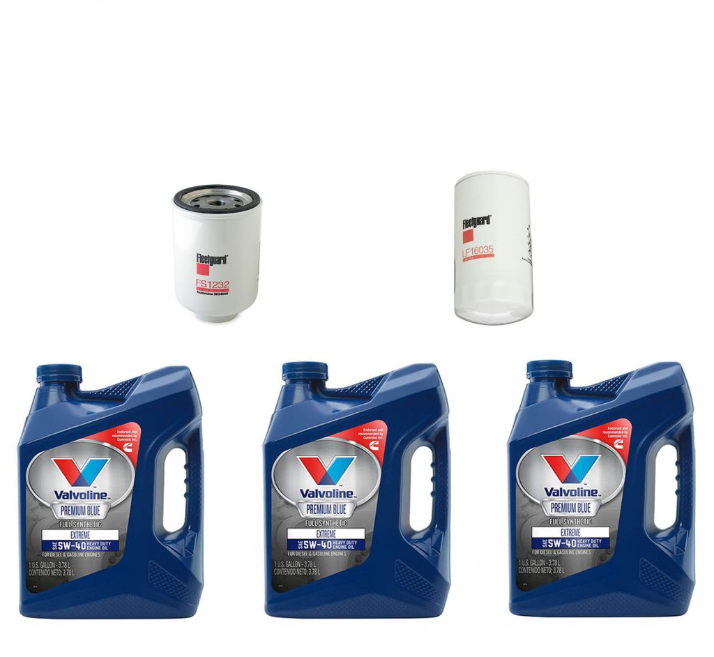 Dodge Ram Cummins Premium Full Synthetic Oil Change Kit W/ Fuel Filter for 89-93 5.9L Cummins 12V