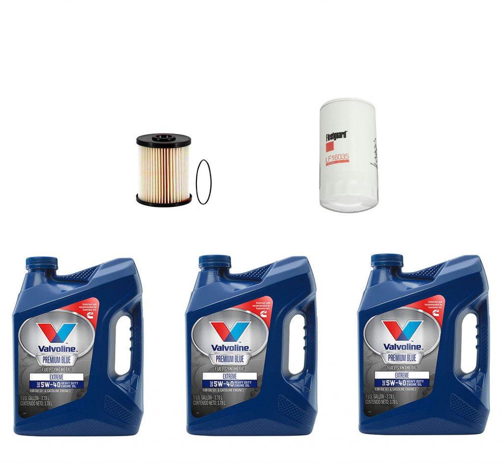 Dodge Ram Cummins Premium Full Synthetic Oil Change Kit W/ Fuel Filter for 03-07 5.9L Cummins 24V