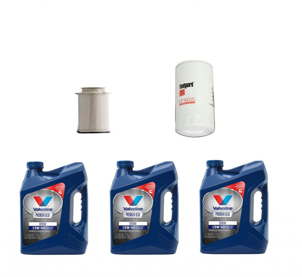 Dodge Ram Cummins Premium Full Synthetic Oil Change Kit W/ Fuel Filter for 13-19 6.7L Cummins 24V
