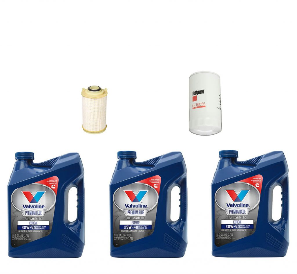 Dodge Ram Cummins Premium Full Synthetic Oil Change Kit W/ Fuel Filter for 07.5-09 6.7L Cummins 24V