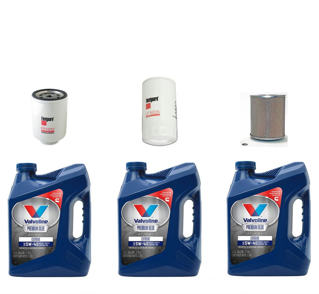 Dodge Ram Cummins Premium Full Synthetic Oil Change Kit W/ Oil, Fuel, & Air Filters for 89-92 5.9L Cummins 12V