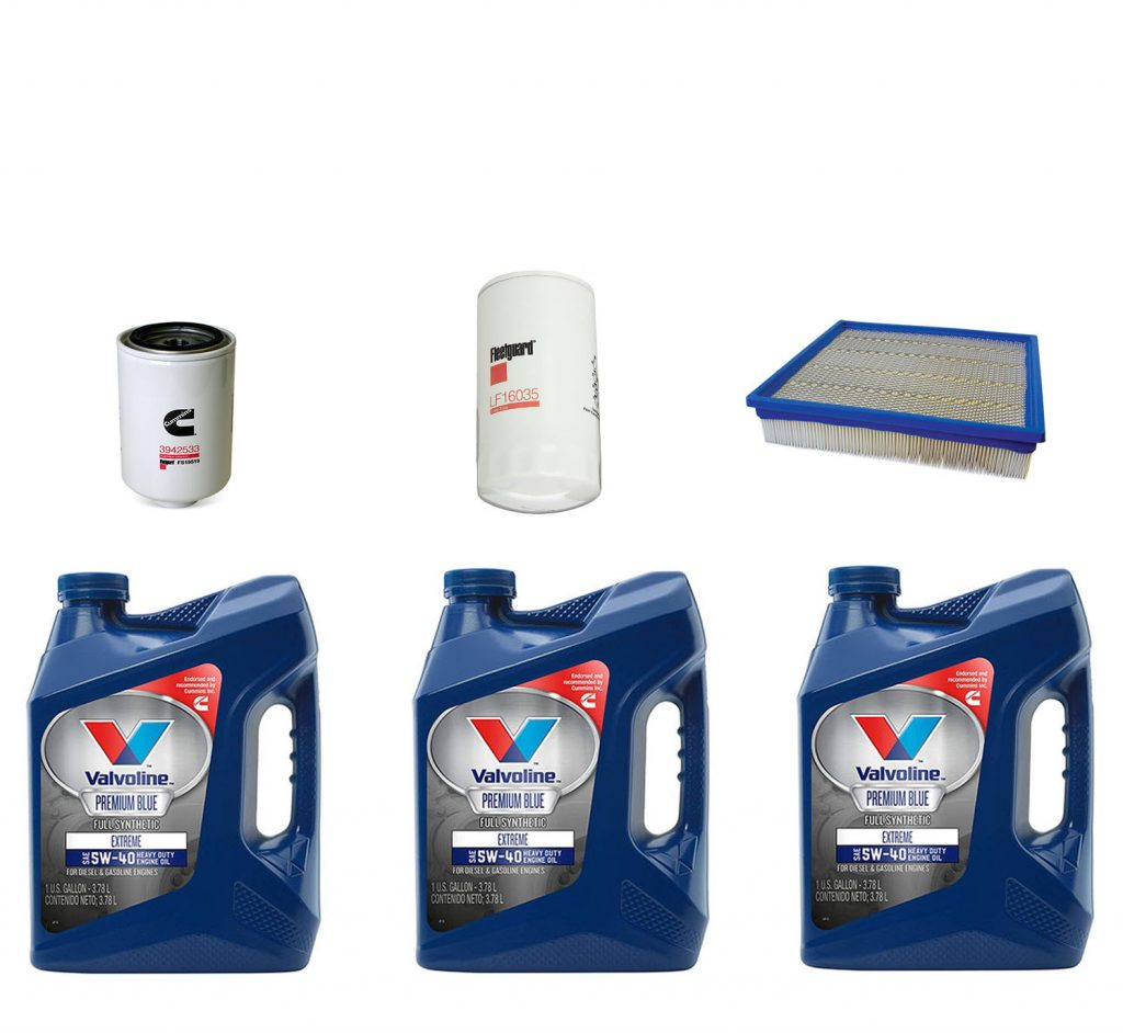Dodge Ram Cummins Premium Full Synthetic Oil Change Kit W/ Oil, Fuel, & Air Filters for 94-96 5.9L Cummins 12V