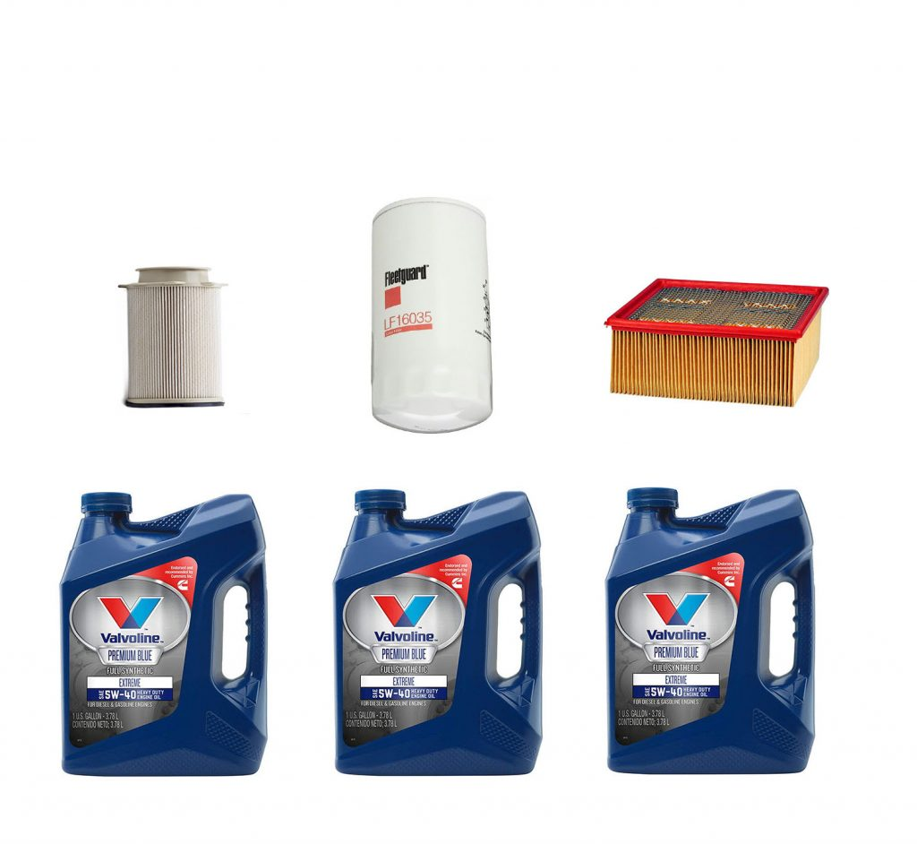 Dodge Ram Cummins Premium Full Synthetic Oil Change Kit W/ Oil, Fuel, & Air Filters for 13-19 6.7L Cummins 24V
