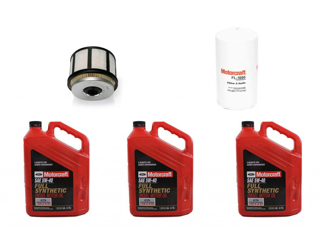 OEM Ford Motorcraft Premium Synthetic Oil Change Kit W/ Fuel Filter for 99-03 7.3L Powerstroke