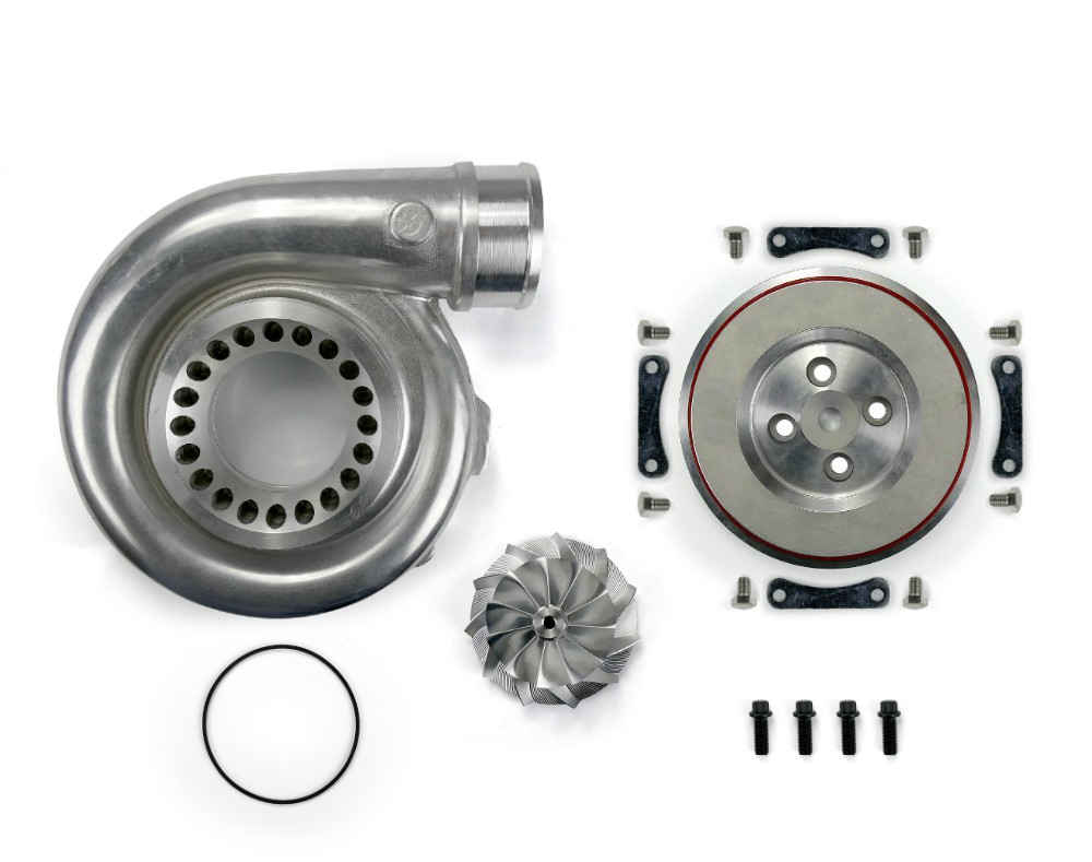 SPOOLOGIC GT3788VA Upgraded Compressor Housing Kit 68mm Billet Wheel For 04.5-07 LLY LBZ DURAMAX