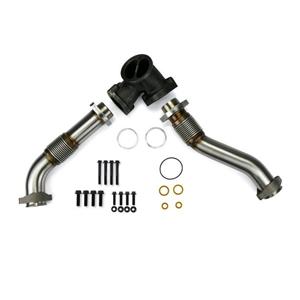 SPOOLOGIC 409SS Bellowed Exhaust Up-Pipes Kit Early 1999 ford powerstroke