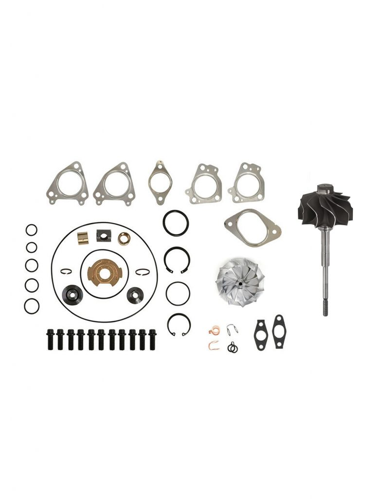 SPOOLOGIC GT3788VA Turbo Rebuild Kit with Billet Turbine Shaft Gasket for 04.5-05 LLY Duramax