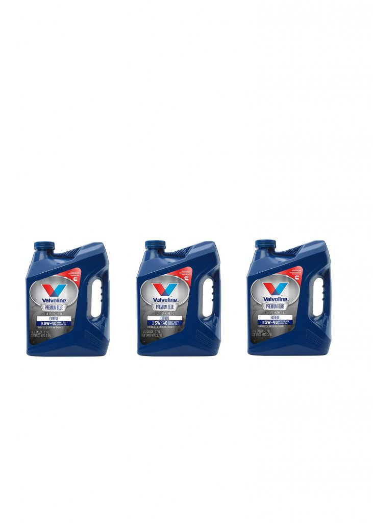 Valvoline Pack of (3) 1g 5W-40 Premium Full Synthetic Oil for Cummins 12V 24V