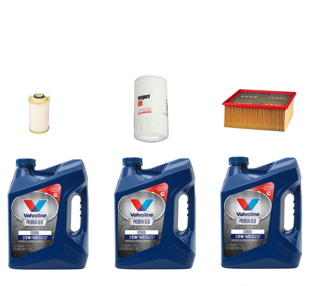 Dodge Ram Cummins Premium Full Synthetic Oil Change Kit W/ Oil, Fuel, & Air Filters for 07.5-09 6.7L Cummins 24V