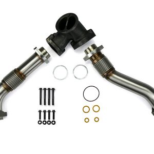 SPOOLOGIC 409SS Bellowed Exhaust Up-Pipes Kit For Early 99 7.3L Powerstroke