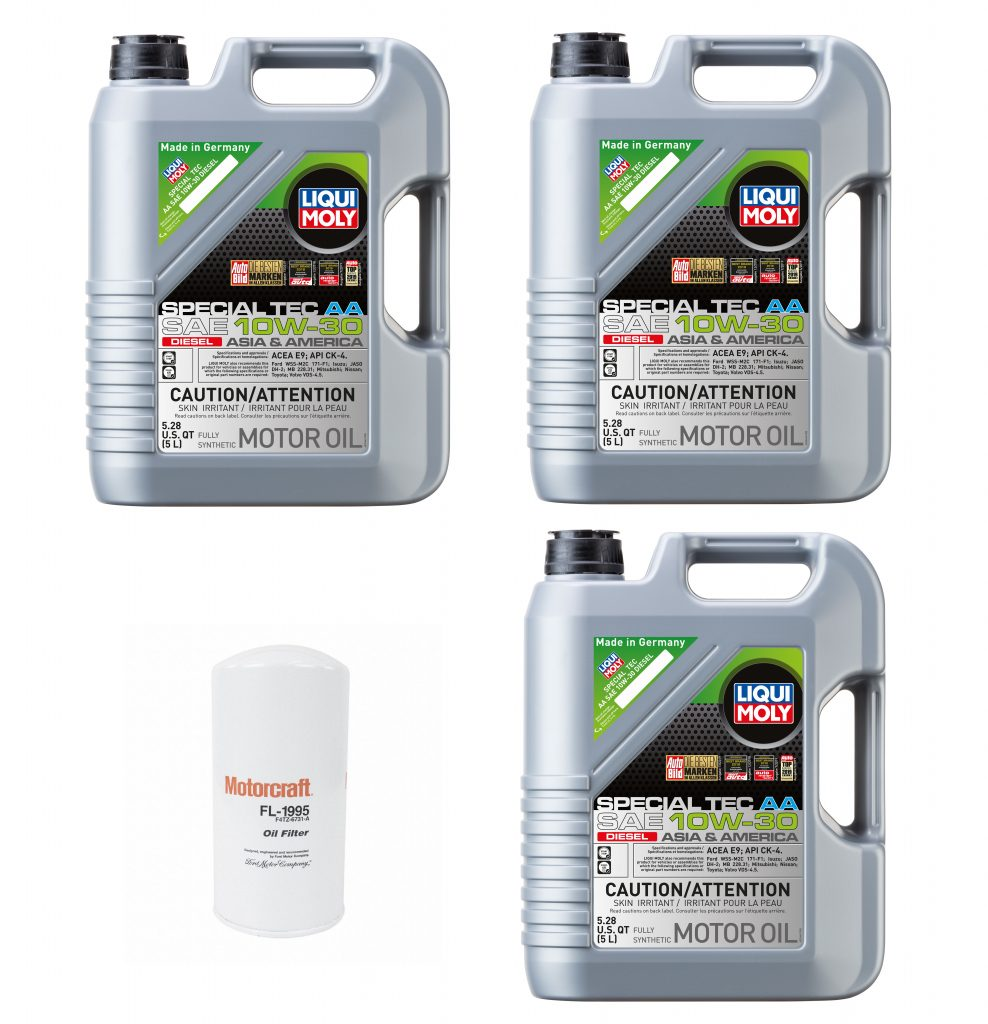 10W-30 Liqui Moly Oil Change Kit For 2011-2021 6.7L Ford Powerstroke