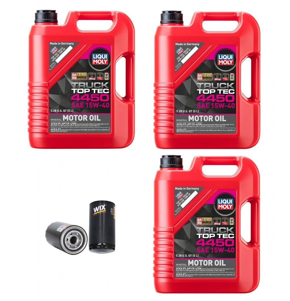 15W-40 Liqui Moly Oil Change Kit for 1989-2021 5.9L 6.7L Cummins 12V 24V