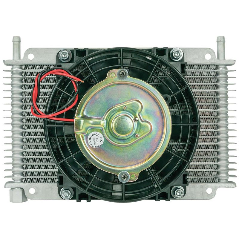 Flex-A-Lite 17 Row Transmission Oil Cooler with Fan