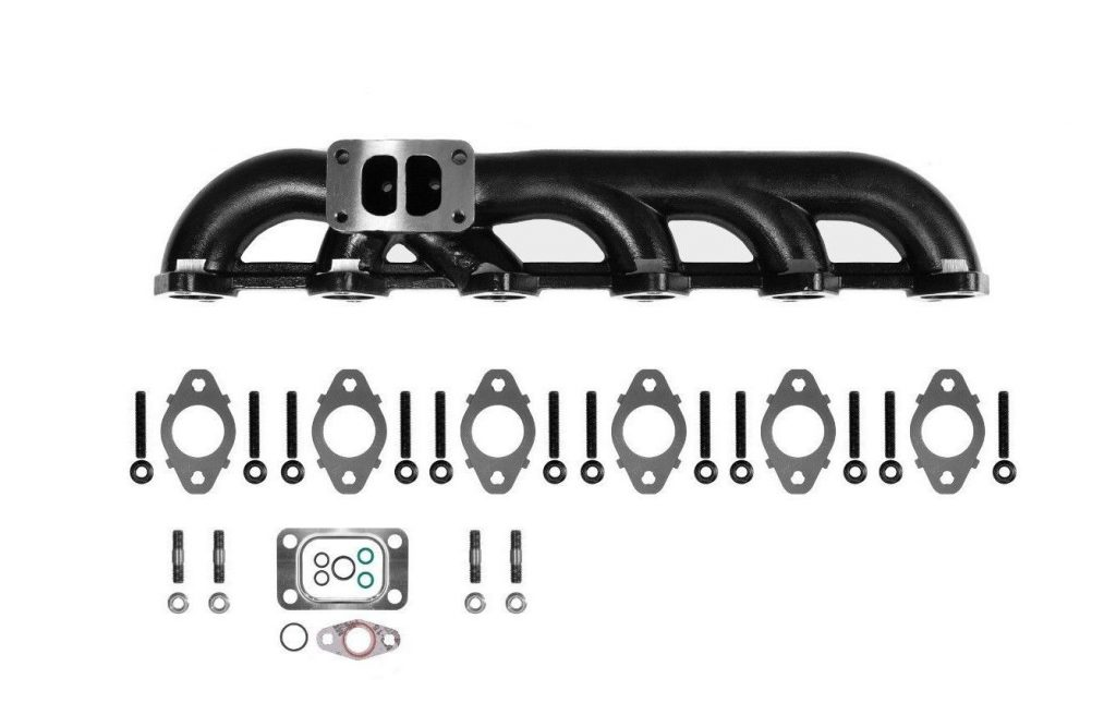 SPOOLOGIC High Flow Ceramic Coated Exhaust Manifold for 03-07 5.9L Cummins 24V