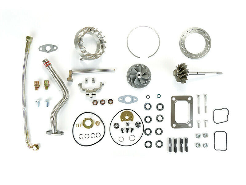SPOOLOGIC HE351VE Turbo Rebuild Kit Gaskets Lines Shaft VGT Cast for 07.5-12 6.7L Cummins 24V