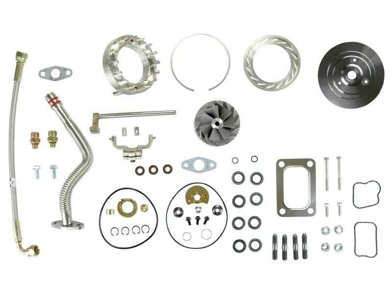 SPOOLOGIC HE351VE Turbo Rebuild Kit Gaskets Lines Plate VGT Cast for 07.5-12 6.7L Cummins 24V