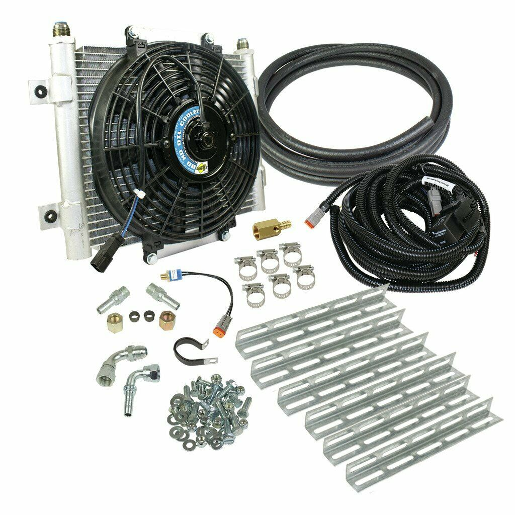 BD Diesel Auxiliary Transmission Cooler with Fan