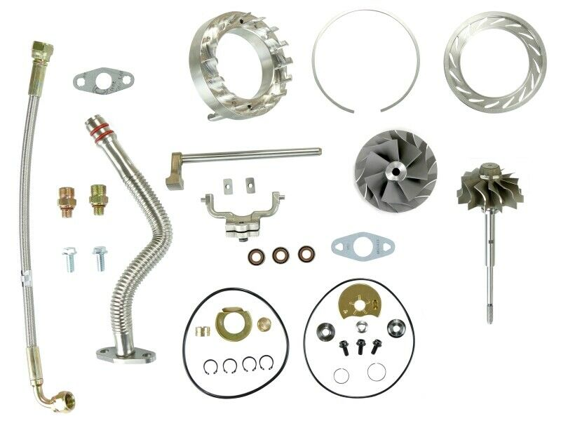 SPOOLOGIC HE351VE Turbo Rebuild Kit with Lines Shaft VGT Cast for 07.5-12 6.7L Cummins 24V