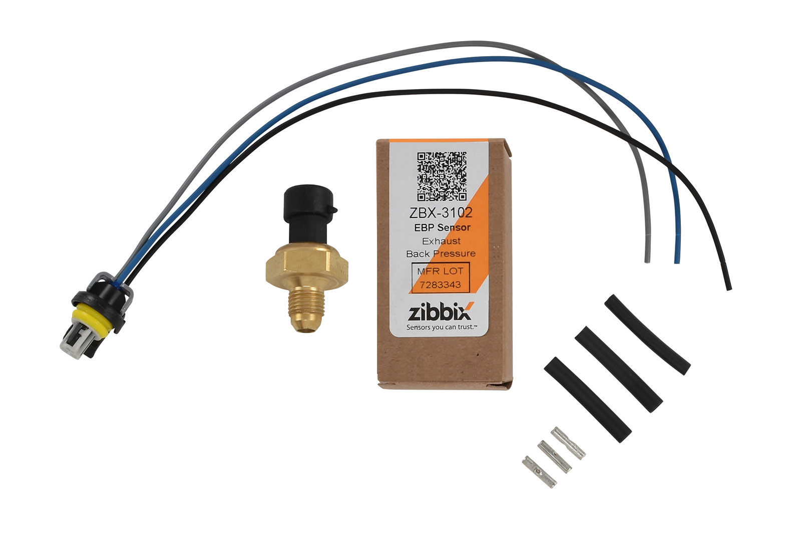 Zibbix ZBX-3102-PK5 EBP Exhaust Back Pressure Sensor Pigtail Kit For 05.5-10 6.0L Ford Powerstroke Diesel