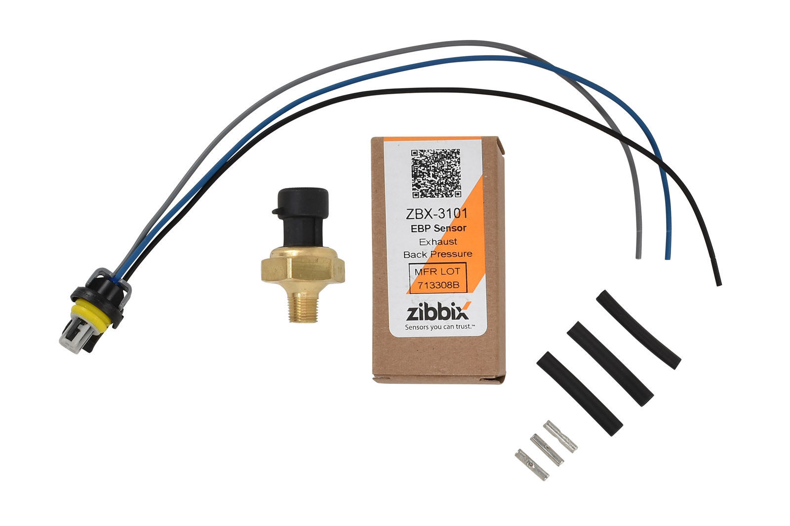 Zibbix ZBX-3101-PK4 EBP Exhaust Back Pressure Sensor Pigtail Kit For 94-04 7.3L 6.0L Ford Powerstroke Diesel