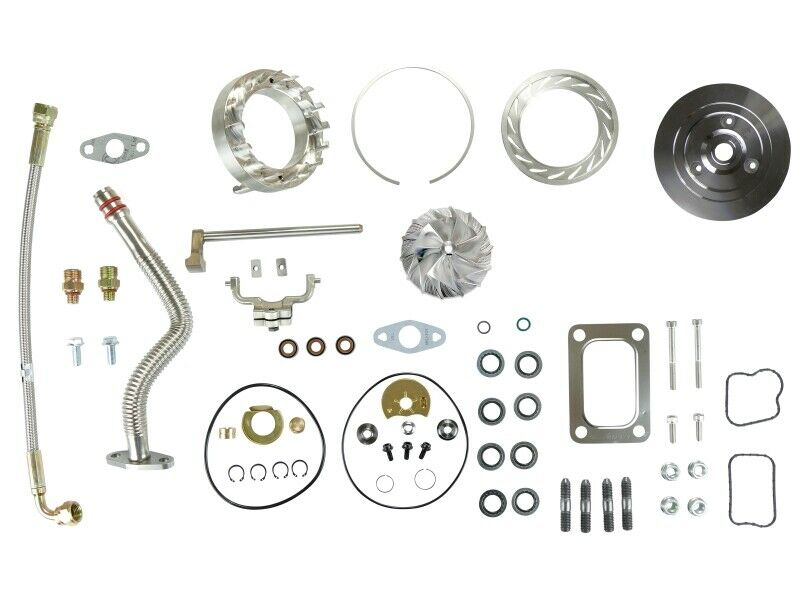 HE351VE Turbo Rebuild Kit Gaskets Lines Plate VGT Billet For 07.5-12 6.7L Ram